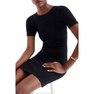J. Crew black cotton short sleeve sheath dress